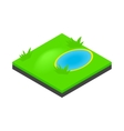Lake landscape icon isometric 3d style vector image vector image