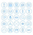 Line Circle Virtual Reality Icons Set vector image vector image