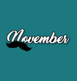 moustaches blog post template for november vector image vector image