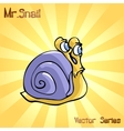 Mr Snail with discontent vector image vector image