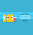 natural juices banner horizontal concept vector image