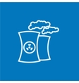 Nuclear power plant line icon vector image vector image