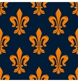 Orange and blue vintage floral pattern vector image vector image
