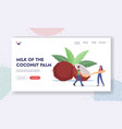 people use coconut oil landing page template tiny vector image vector image