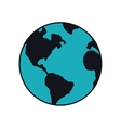 planet earth blue map icon graphic vector image vector image
