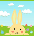 rabbit and easter egg cartoon vector image vector image