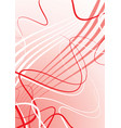 red abstract vector image vector image