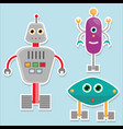 robots stickers isolated vector image vector image