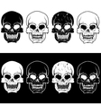 set of aggressive skulls design template vector image vector image