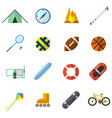 set of icon in flat design style vector image vector image