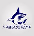 shark letter c logo vector image