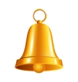 shiny golden bell vector image vector image