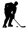 silhouette of hockey player Isolated on white vector image vector image