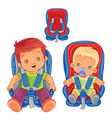 small children in car seats vector image