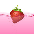 Strawberry drink vector image