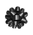 stylish black bow with ribbon vector image vector image