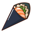 sushi restaurant icon cartoon style vector image vector image