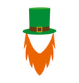template face leprechaun on st patrick s day vector image
