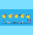 user giving five star rating vector image
