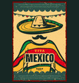 viva mexico retro poster for cinco de mayo holiday vector image vector image