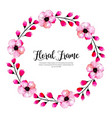 watercolor spring floral frame vector image vector image