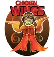 Wings a grill in the form of cowboy from wild vector image vector image