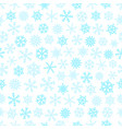 winter seamless pattern with snowflakes vector image vector image