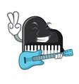 with guitar piano mascot cartoon style vector image