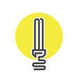 energy saving bulb isolated icon vector image
