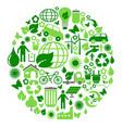 green eco circle vector image