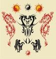 dragon triball tatto vector image