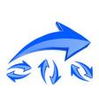 arrows set of 3d blue arrows in circular motion vector image