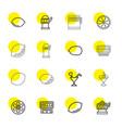 16 lemon icons vector image vector image