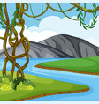 a nature landscape background vector image vector image