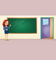a teacher in the classroom vector image