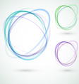 abstract circle design swoosh line elements vector image vector image