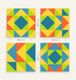abstract colorful geometric design color pattern vector image