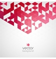 Abstract geometric background with color triangle vector image vector image