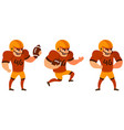 american football player in different poses vector image vector image