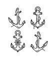 anchor outline design vector image