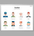 avatar icons gradient pack vector image