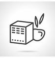Baby food box black line icon vector image vector image