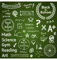 Back to school elements vector image vector image