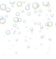 background with shiny soap bubbles vector image vector image