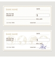 Bank Check Template Set