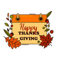 banner or card with thanksgiving greetings vector image