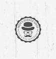 barber shop round vintage emblem vector image
