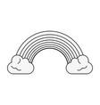 beautiful rainbow symbol vector image vector image