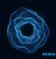 big blue data circular visualization futuristic vector image vector image