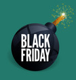 black friday bomb sale poster template vector image vector image
